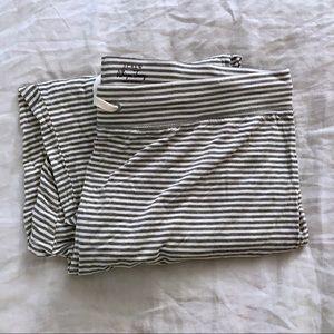 Jcrew gray stripe whisper jersey drapey sweatpants